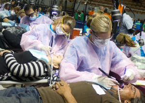 Hygienists working at dental charity event in Phoenix, AZ
