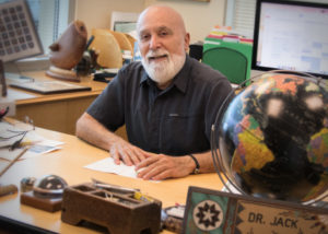 ASDOH Dean Dr. Jack Dillenberg in his office