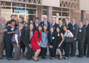 Dentists, hygienists, and dental students outside Arizona State Capitol