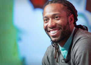 Larry Fitzgerald at dental convention